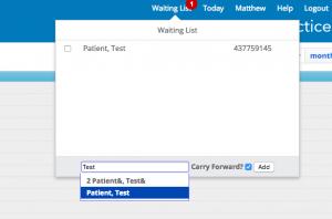 waiting-list-practice-management-software